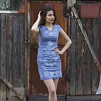 """Сукня жіноча """"Дерево життя"""" льон блакитний"""