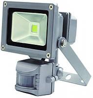 Светодиодный прожектор 1LED LL-831 10W с датчиком движения 6400К IP65