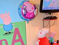 Надувные шарики Свинка Пеппа гелевые фольгированные и в виде Свинки Пеппы поштучно
