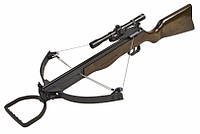 Блочный арбалет винтовочного типа со съемными плечами, вес 4,1 кг, 20 шариков, 6 стрел-болтов, оптика