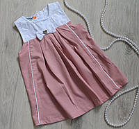Платье - сарафан для девочки на возраст 6мес, 9мес