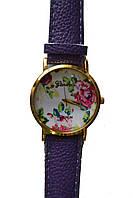Часы наручные женские Geneva цветы, фото 1