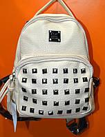 Рюкзак - мини молодежный молочный