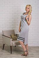 Платье летнее спортивное серое, фото 1