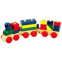 Деревянная развивающая игрушка Конструктор паровозик Д018