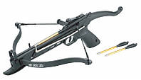 Арбалет пистолетного типа: ход тетивы 170 мм, размах дуг 450 мм, 3 дротика, планка ласточкин хвост