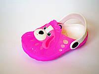 Кроксы - сабо детские с собачкой для девочек