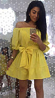 Женское однотонное платье Хуторянка