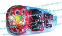 Комплект защиты красный детский: шлем, наколенники, налокотники, защита рук и кистей