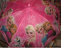 Детский зонт трость Анна и Эльза