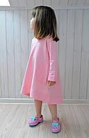 Нежно-розовое хлопковое платьице. Размеры: 86, 92, 98, 104, 110, 116 см