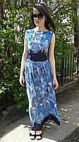 Стильное женское шифоновое платье в пол