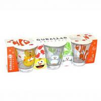 Набор стаканов детских 265 мл 3 шт Gurallar Art Craft