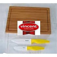 Набор ножей керамика доска3пр. Vincent VC-6132