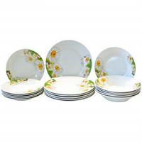 Набор столовой посуды Цветы 18 предметов Оселя