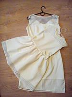 Стильное легкое детское платье