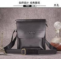 Мужская кожаная сумка POLO, чёрная поло