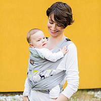 Май слінг Oленi для прогулянок з натуральної тканини Діагонального плетіння Лав Carry Love Керри