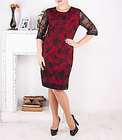 """Эффектное гипюровое платье """"Вилори"""" большого размера от 50 до 62"""