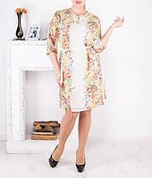 """Летнее шифоновое платье """"Цветочное"""" большого размера от 46 до 62"""