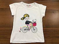 Футболка для девочки Велосипед. Paty Kids