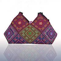 Вышитая женская сумка Геометрический орнамент