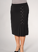 """Женская юбка с декорирована атласными полосами """"37"""""""