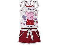 """Костюм """"Свинка Пеппа с мишкой"""" для девочки (шорты, майка)"""