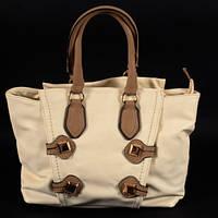 Модная женская сумка С029 cream большого розмера