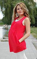 Тройка: туника,майка и лосины для беременных Коралл и мята