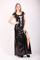Платье женское паетка в пол разрез