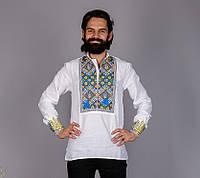 Украинская мужская вышиванка с национальной символикой.