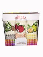 Набор Турецких вафельных полотенец для кухни с вышитыми фруктами