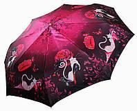 Женский зонт Три Слона Кошка с зонтом САТИН ( полный автомат ) арт.141-10