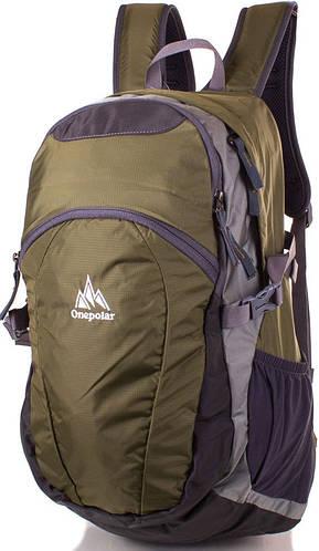 Оригинальный спортивный рюкзак 25 л. Onepolar W1739-green зеленый
