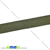 Тесьма для подшивки брюк, 15 мм, Зеленая, 1 м (LEN-016225)