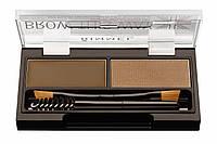 RM Brow This Way - Набор для моделирования бровей (002-Mid Brown / средне-коричневый), 1,1 г + 1,3 г