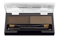RM Brow This Way - Набор для моделирования бровей (003-Dark Brown / темно-коричневый), 1,1 г + 1,3 г
