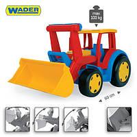 Большой игрушечный трактор серии Gigant Truck от ТМ Wader с ковшом