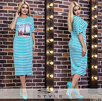 Платье свободного кроя, очень комфортное и удобное в жаркую погоду с нашивкой туфли