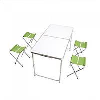 Раскладной стол + 4 стула Кемпинг  XN 12064