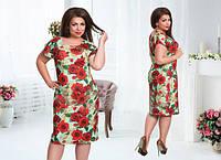 Платье женское батал цветы, фото 1