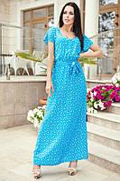 Легкое летнее платье женское принт в пол, фото 1