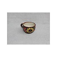 """Глиняная посуда """"Чашка для кофе малая Букет"""""""