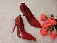 Туфли лодочки Красные Лак