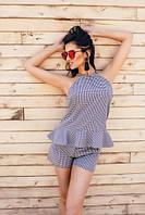 Женский легкий костюм с шортами на лето в расцветках Н323