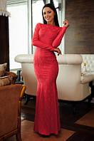 Платье Спинка украшена камушками на силиконовой основе, есть потайная змейка, фото 1