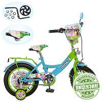 Детский двухколесный велосипед Profi  12 дюймов LT 0050-01 Лунтик