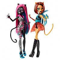 Куклы монстер хай набор Кэтти Нуар и Торалей Страйп из серии Страшные рокеры.