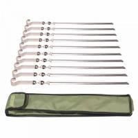 Шампуры для шашлыков (50х1,5мм) нержавеющая сталь, 10 шт. в сумке